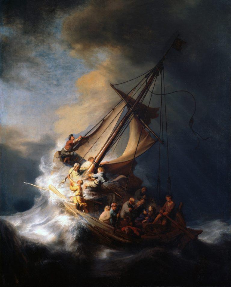 Христос во время шторма на море Галилейском. 1633