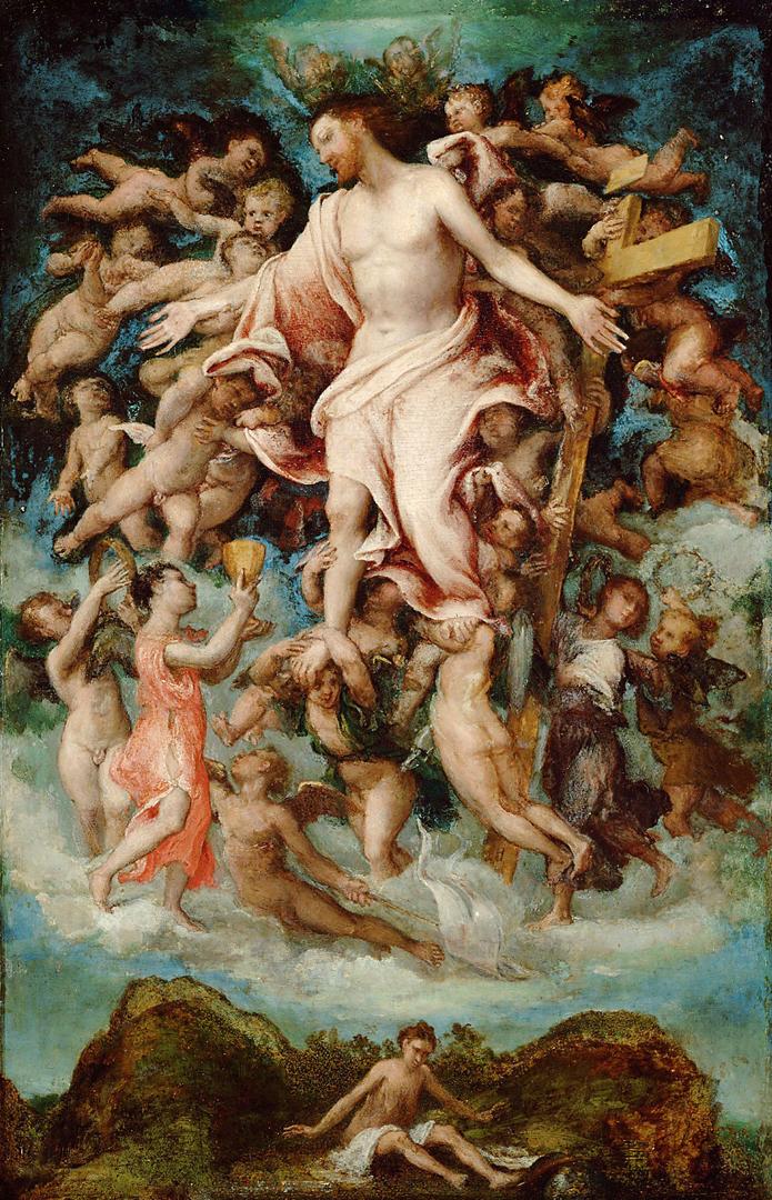 Христос, жертвующий своей кровью. 1543