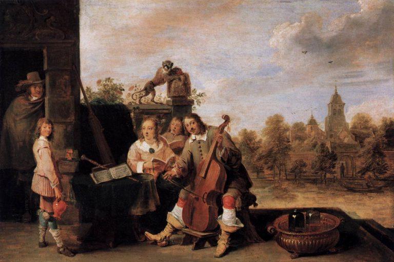 Художник и его семья. 1645