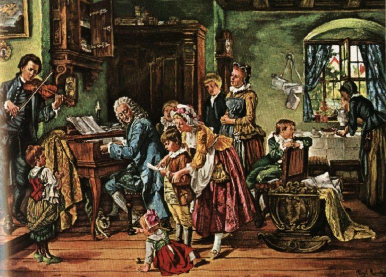 И.С.Бах и его семейство за утренним музицированием. 1870