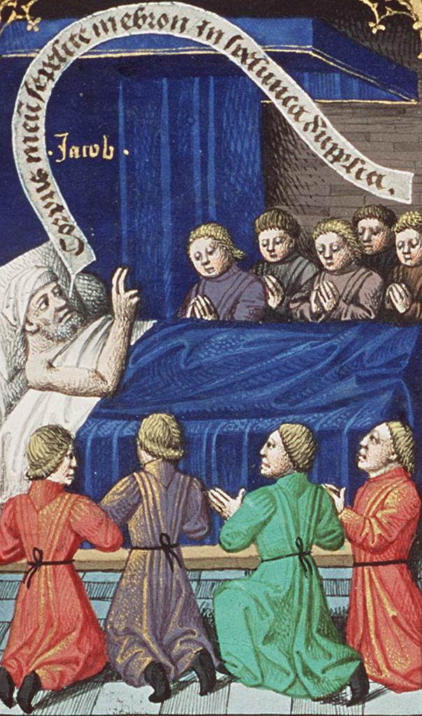 Иаков благословляет сыновей. Между 1475 и 1480