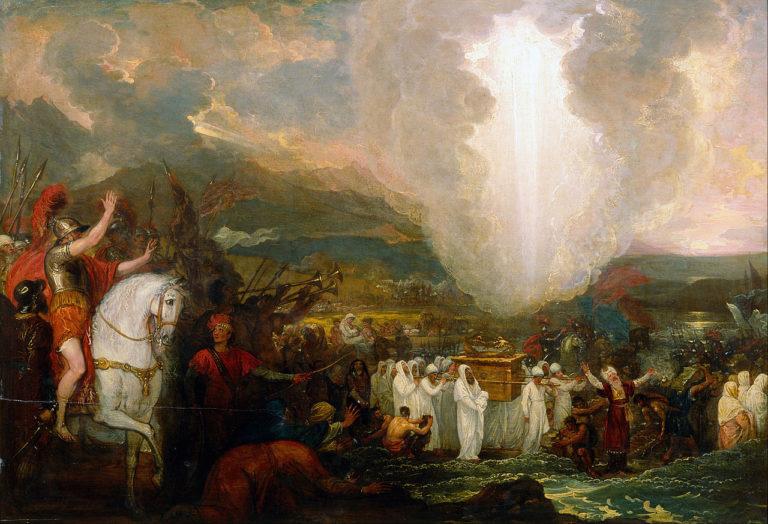 Иисус Навин переходит Иордан с Ковчегом Завета. 1800