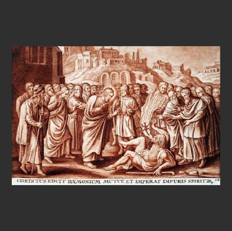 Иисус изгоняет бесов из немого