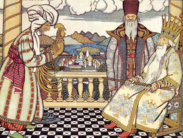 Иллюстрация И.Билибина к «Сказке о золотом петушке»