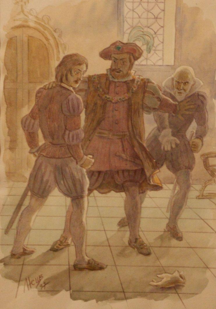Иллюстрация к произведению А.С. Пушкина «Скупой рыцарь». 1997