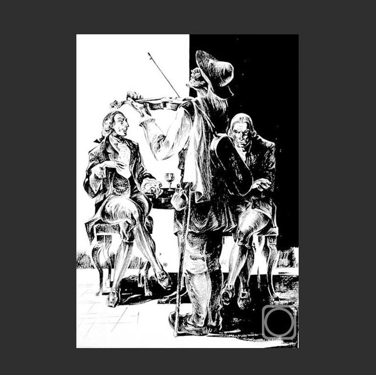 Иллюстрация к трагедии «Моцарт и Сальери»