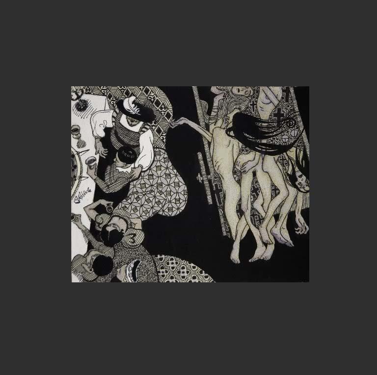 Иллюстрация к трагедии «Пир во время чумы»