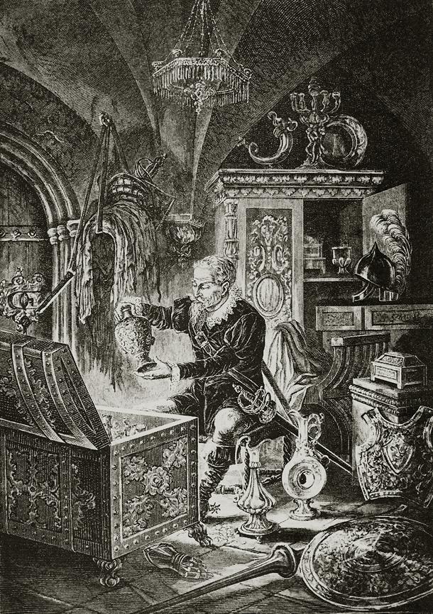 Иллюстрация к трагедии «Скупой рыцарь»