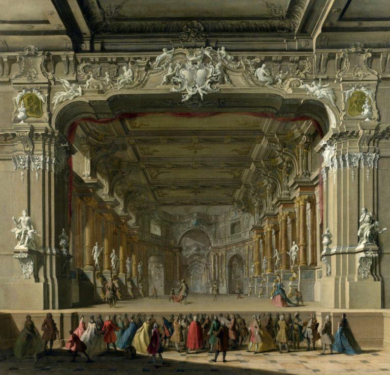 Интерьер итальянского театра эпохи барокко. Ок. 1725 г.