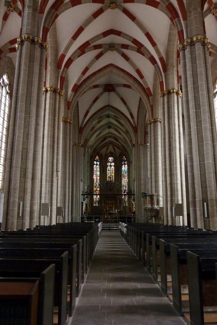 Интерьер церкви св. Власия Севастийского (Divi Blasii) в Мюльхаузене, Тюрингия