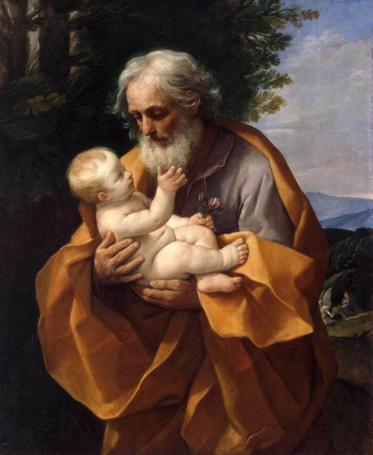 Иосиф с младенцем Иисусом. 1620