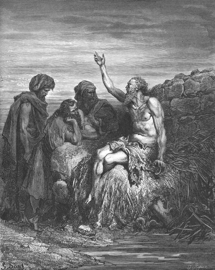 Иов говорит с друзьями. 1866