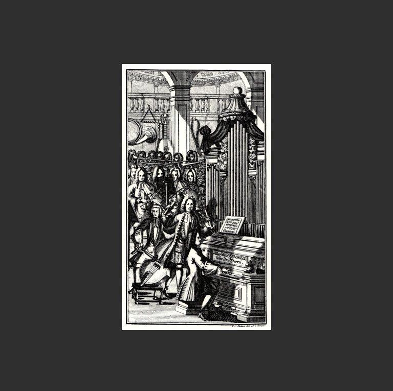 Исполнение кантаты Баха. 1732