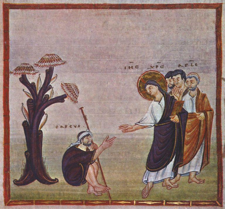 Исцеление иерихонского слепца. X в.