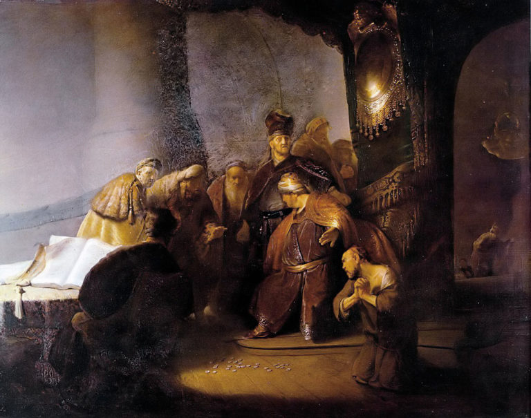 Иуда возвращает тридцать серебряников. 1629