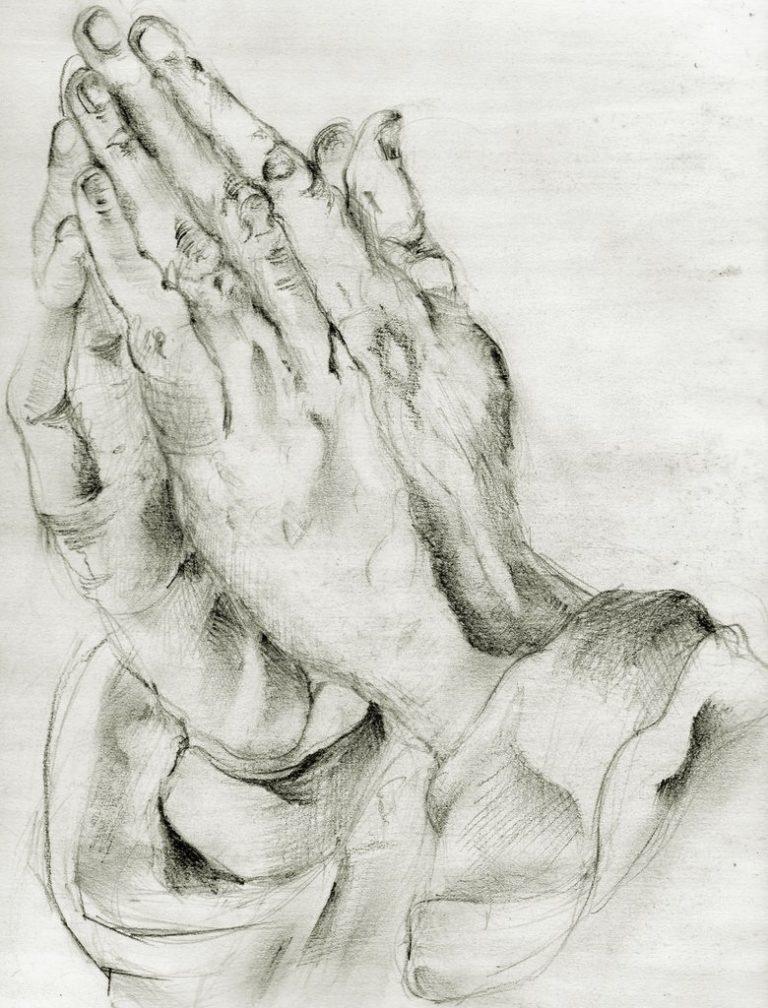 Из серии рисунков «Hand study» (исследование руки)