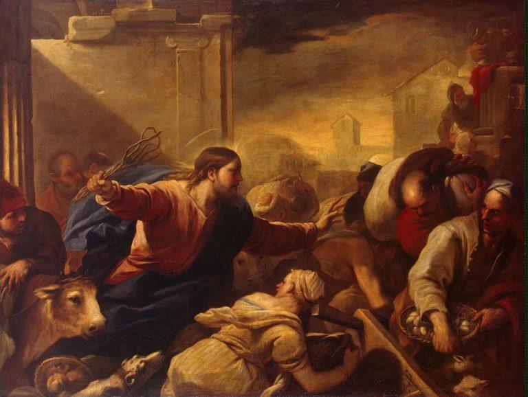 Изгнание торгующих из храма. Ок. 1675