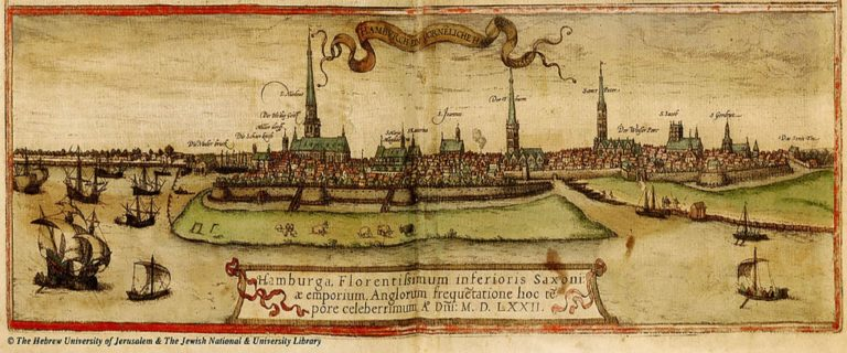 Карта Гамбурга. Ок. 1572
