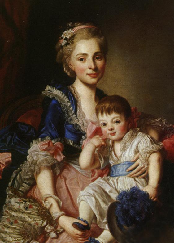 Княгиня Наталья Петровна Голицына с сыном Петром (1767-1773). 1768