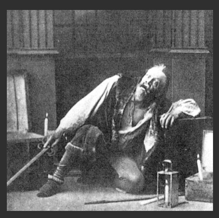 Константин Станиславский в роли Скупого рыцаря. 1888 г.