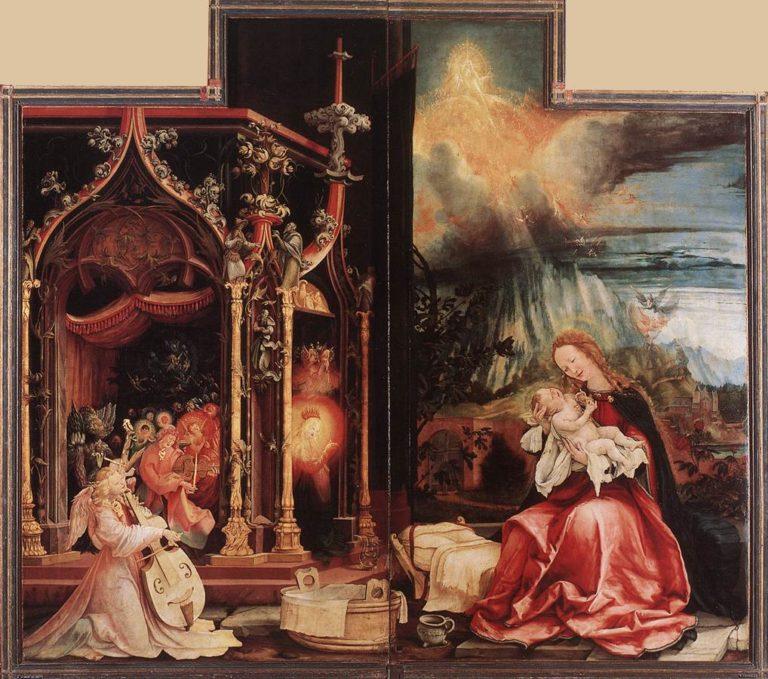 Концерт ангелов и Рождество. Около 1515