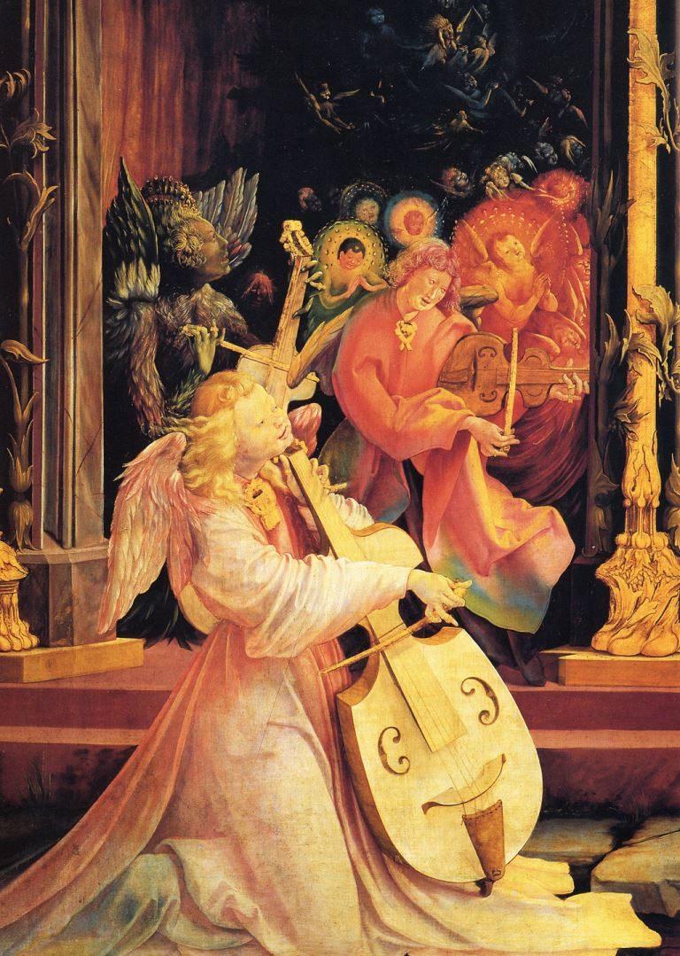Концерт ангелов. Деталь Изенгеймского алтаря. Ок.1515