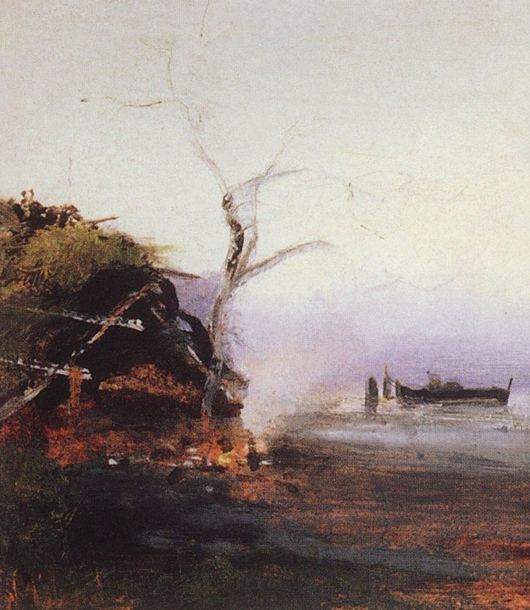 Костер у реки. 1892