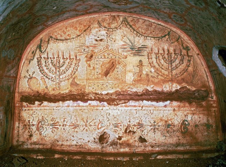 Ковчег Завета и две меноры. III в. н.э.