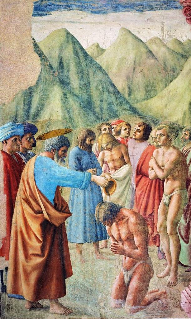 Крещение Петром неофитов. 1424-1428