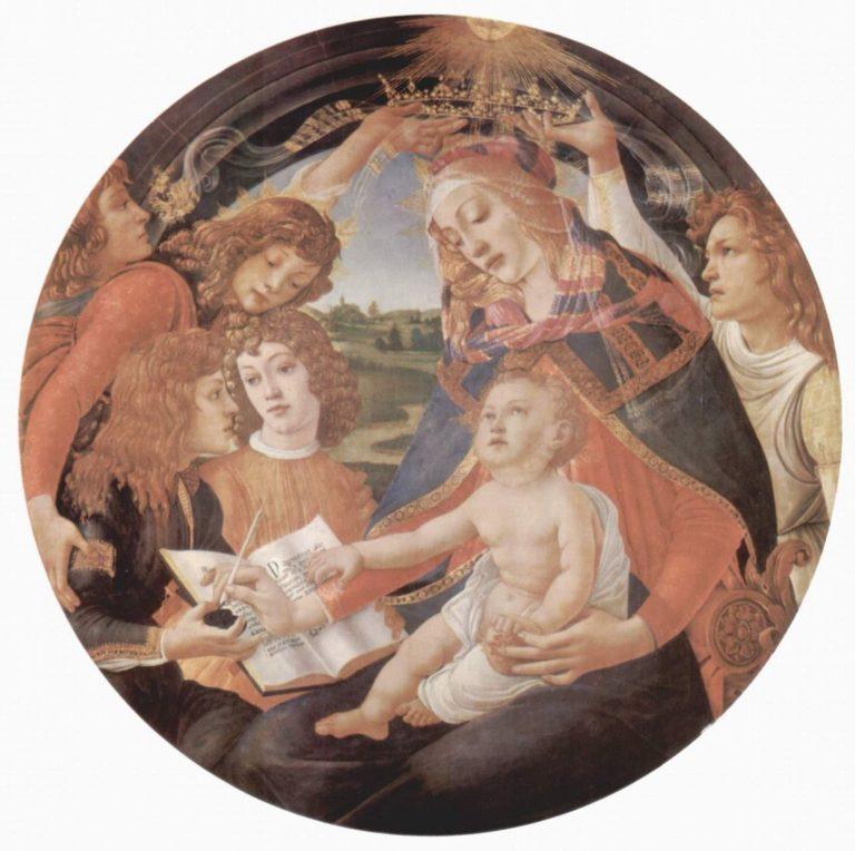 Мадонна «Magnificat». Мария с младенцем Христом и пятью ангелами