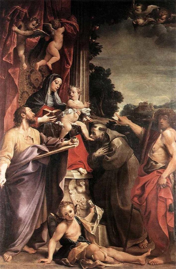 Мадонна на троне со Св.Матфеем. 1588