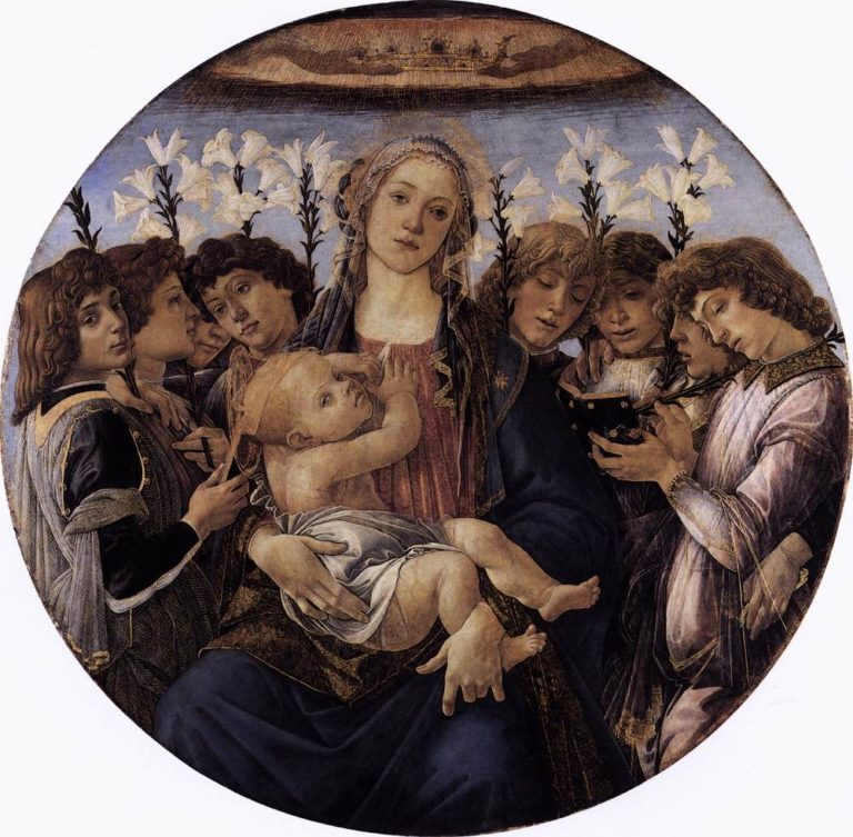 Мадонна с Младенцем и восемь ангелов. Ок. 1478