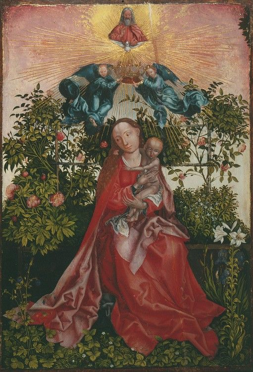 Мадонна с Младенцем в беседке, увитой розами. XVI в.