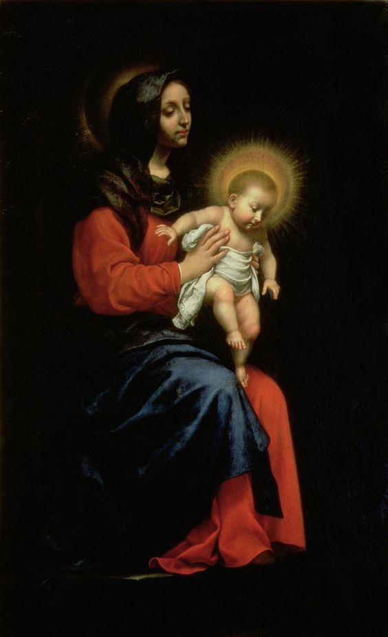Мадонна с Младенцем. XVII в.