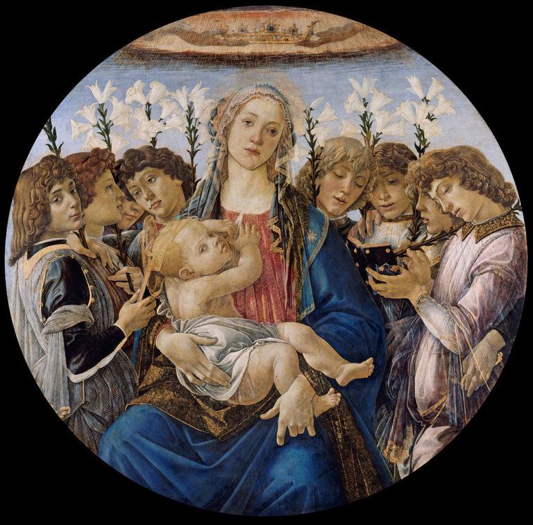 Мадонна с младенцем и поющими ангелами. Ок.1477