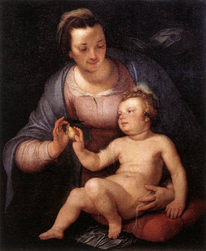Мадонна с младенцем. 1617