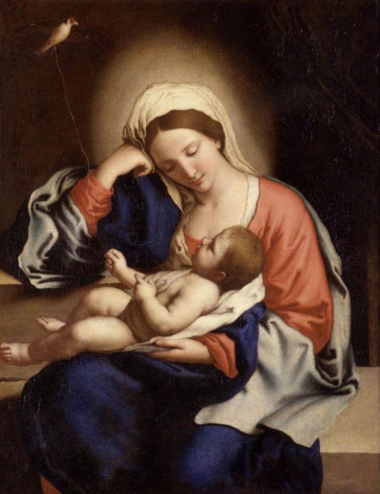 Мадонна с младенцем. 1-я пол. XVII в.