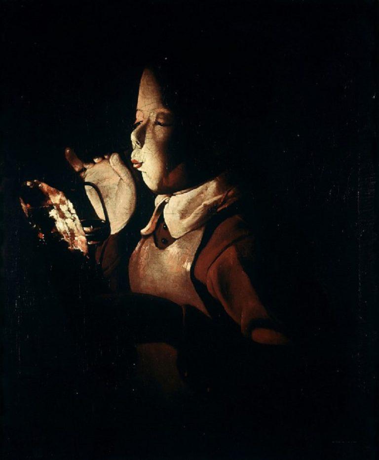 Мальчик, зажигающий лампу. 1640