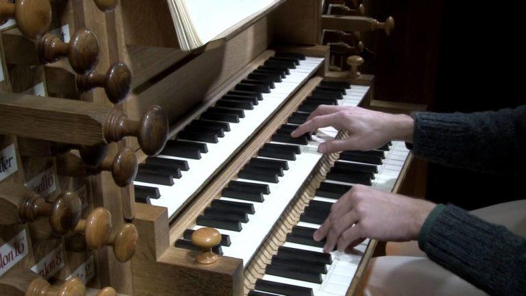 Мануалы и рычажки органа