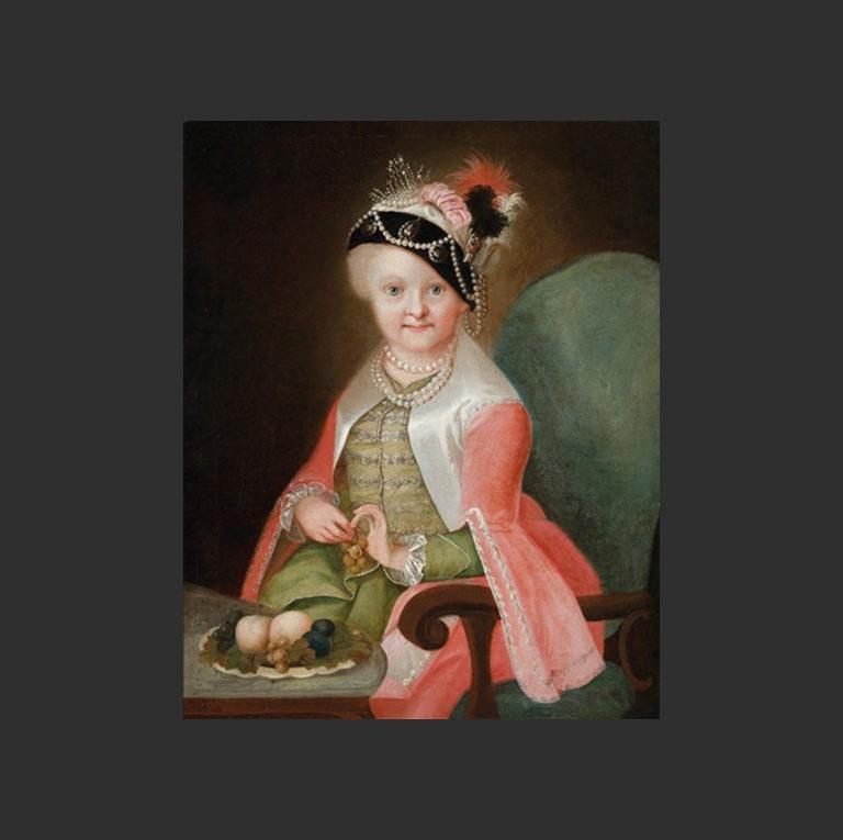 Мария Йозефа Австрийская (нем. Maria Josepha von Habsburg, 1699 — 1757). Ок. 1710