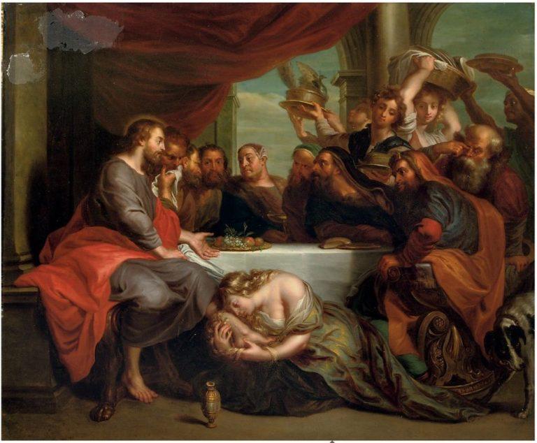 Мария Магдалена омывает ноги Христа. 1735