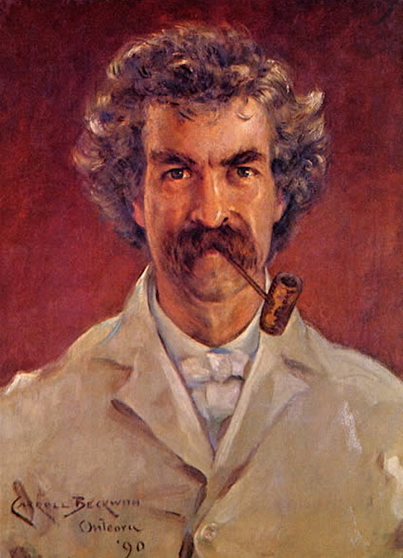 Марк Твен (англ. Mark Twain, настоящее имя Сэмюэл Лэнгхорн Клеменс, Samuel Langhorne Clemens, 1835—1910)