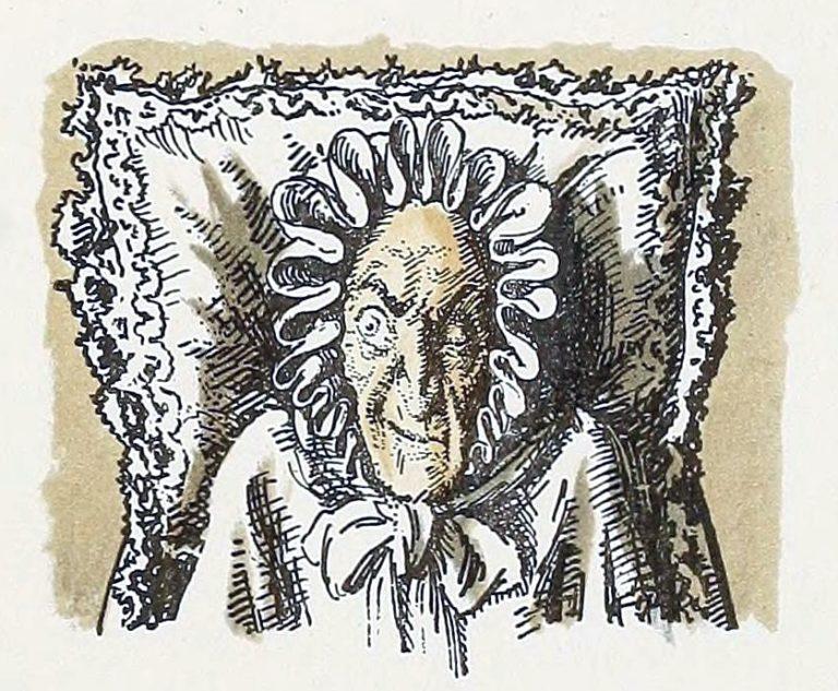 «Мертвая графиня насмешливо взглянула на Германна, прищуривая одним глазом...»