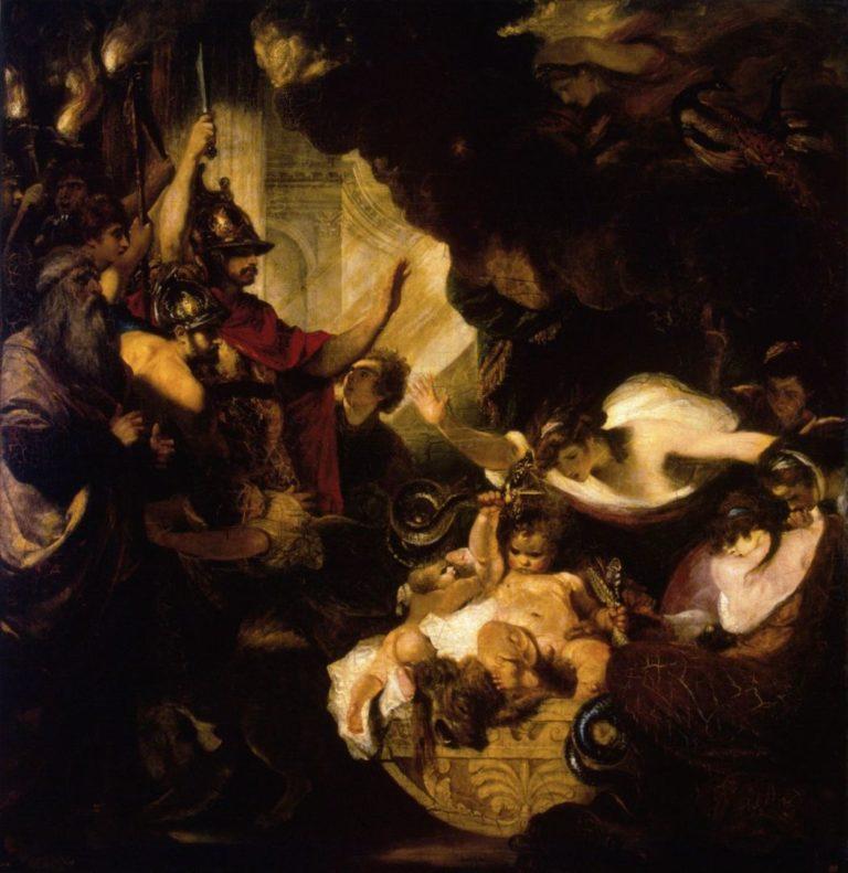 Младенец Геракл, удушающий змей, подосланных Герой. 1786