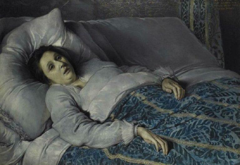 Молодая женщина на смертном одре. Ок.1621