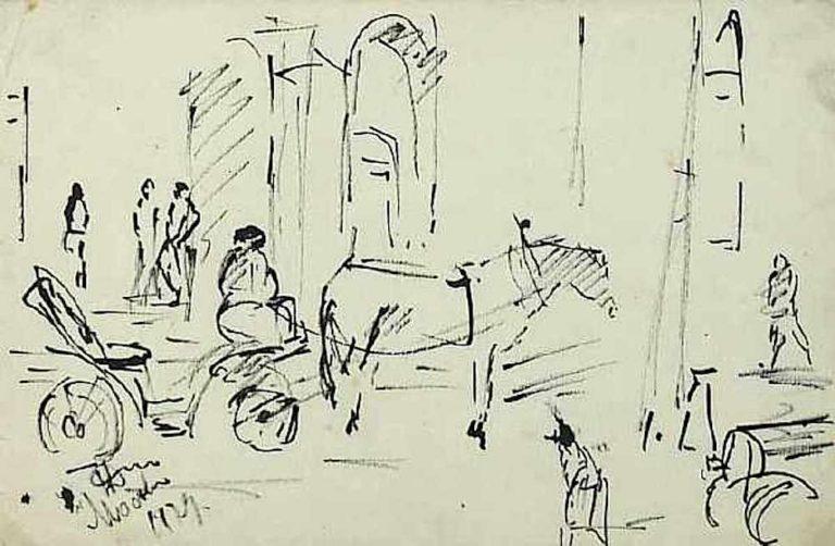 Москва. Извозчицкая пролетка. 1929