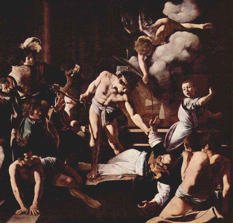 Мученичество святого Матфея. 1599-1602