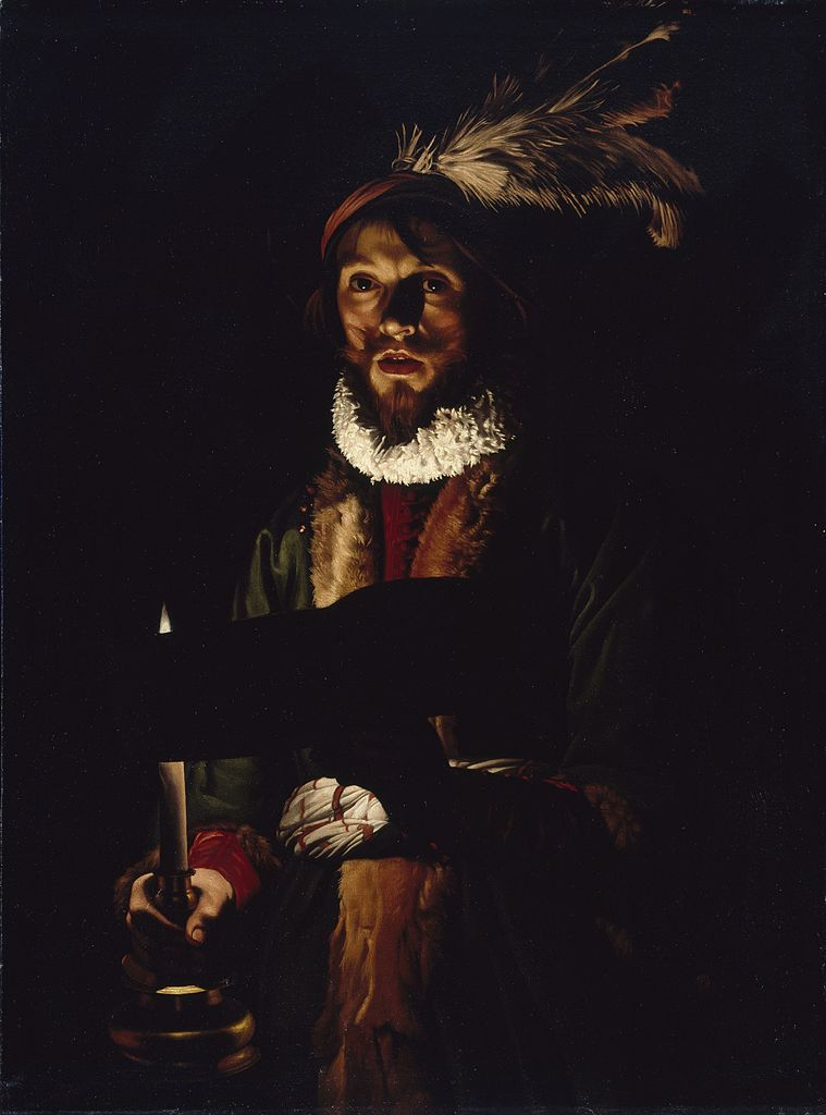 Мужчина, поющий при свете свечи. 1625-1635