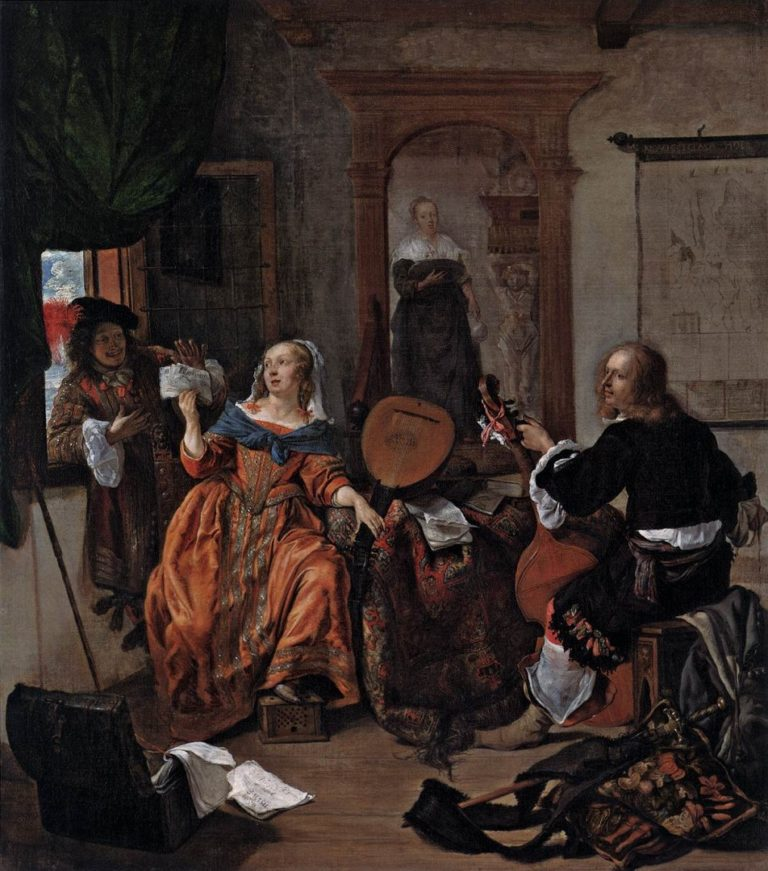 Музыкальный вечер. 1659