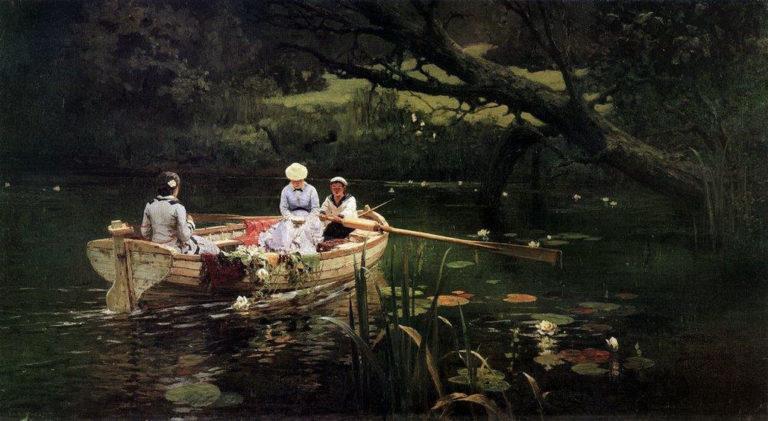 На лодке. Абрамцево. 1885